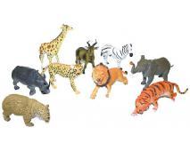 Zvieratá safari 23-31cm 12ks v dbx