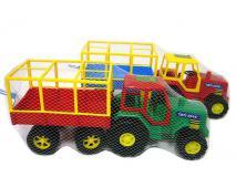Traktor s vlečkou plastový 50cm