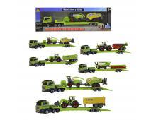 Ťahač s poľnohospodárskymi strojmi