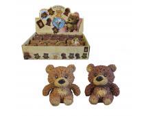 Medveď softový, 8 cm, 24 ks v boxe