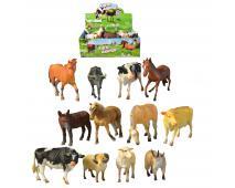 Zvieratká domáce 12ks v dbx,13cm