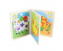 Kniha puzzle drevené, zvieratká