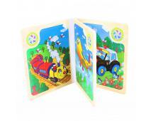 Kniha puzzle drevené, dopr.prostriedky