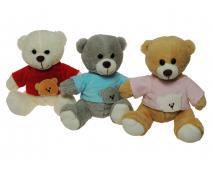 Medvedík v tričku mix 19cm