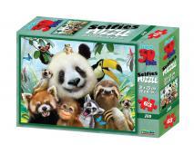3D Puzzle Zoo selfie 63 dielov