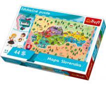 Puzzle 44 edukatívne mapa Slovenska