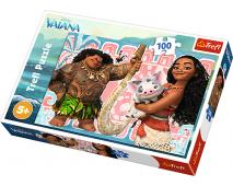 Puzzle 100 Disney Vaiana a priatelia