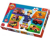 Puzzle 100 Požiarnik Sam