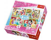 Puzzle 4v1 Princezné