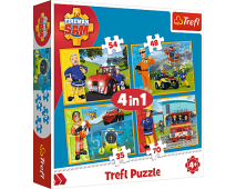Puzzle 4v1 Požiarnik Sam
