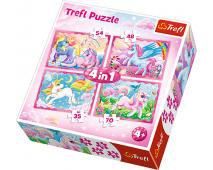 Puzzle 4v1 Jednorožec