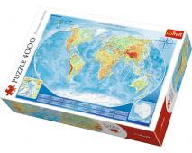 Puzzle 4000 Veľká mapa sveta