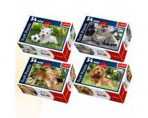 Puzzle 54 mini Roztomilé zvieratká