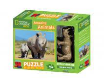 3D Puzzle Nosorožec 100 + figurka