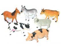 Zvieratká domáce 22cm, 8ks v dbx