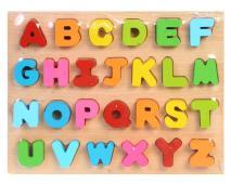 Drevené puzzle Abeceda 26ks