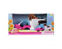 Auto pre bábiky s prívesom 63cm