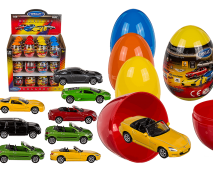 Kovový model auta vo vajci 9cm