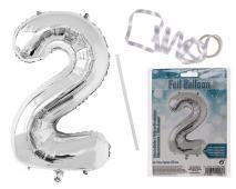 Balón strieborný  č.2, 80cm