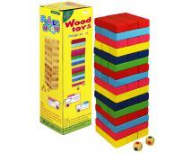 Hra veža Jenga farebná, drevo