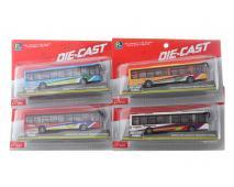 Autobus kovový na karte 22cm