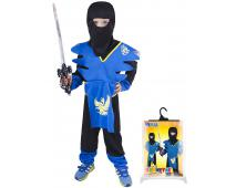 Karnevalový kostým Ninja modrý,veľ.S