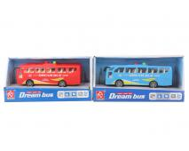 Autobus 2 farby na batérie 16cm