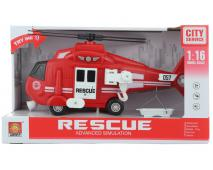 Helikoptéra hasiči na batérie