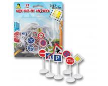 Dopravné značky na karte 21ks