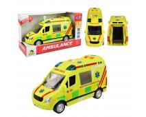 Auto ambulancia 27cm na zotrvačník