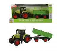 Traktor s vlečkou na zotrvačník, 40cm