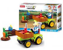Stavebnica traktor na ovocie 80ks
