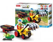 Stavebnica traktor s prívesom 110ks