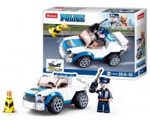 Stavebnica naťahovacie policaj.auto 90ks