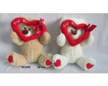 Medveď držiaci srdce 20cm