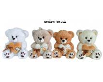 Medveď so srdcom 4 farby 20cm