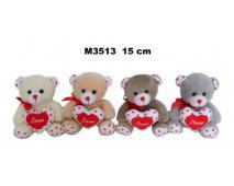 Macko so srdiečkom Love 15cm