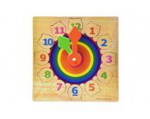 Drevené puzzle - hodiny