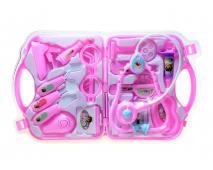 Doktorský set v kufríku ružový