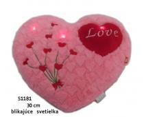 Srdce s blikajúcimi svetielkami 30cm