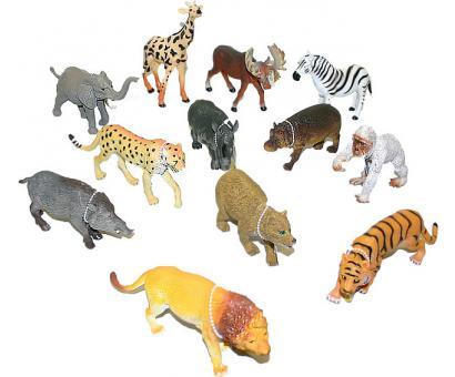 Zvieratká safari 13-20cm 24ks v dbx