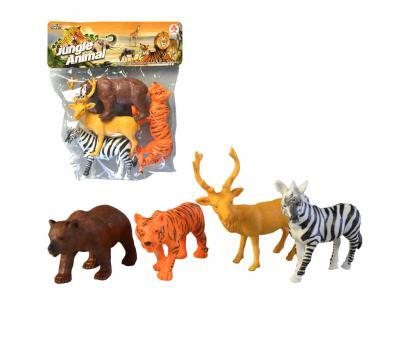 Zvieratká safari, 4ks, 13cm