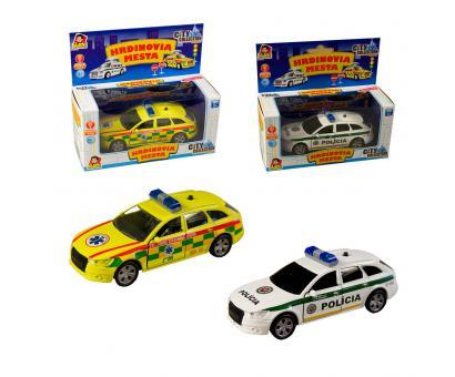 Polícia, ambulancia SK,15cm pullback