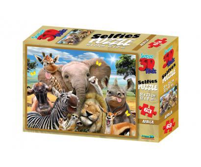 3D Puzzle Afrika selfie 63 dielov