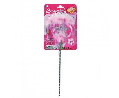 Korunka princezná s paličkou ružová