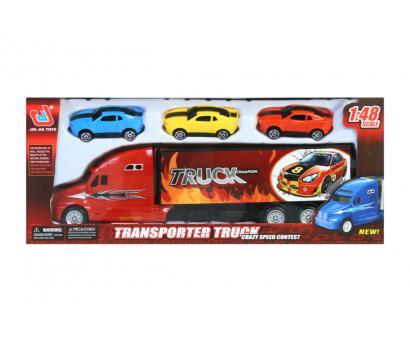 Kamion + 3 autíčka P/B 35x15cm