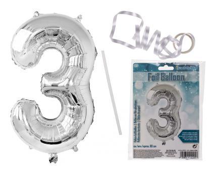 Balón strieborný  č.3, 80cm