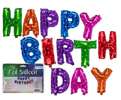 Farebné balóny Happy Birthday 40cm