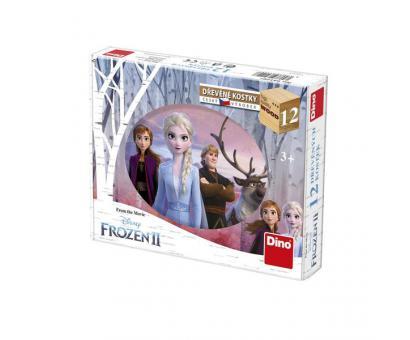 Drevené kocky - Frozen II 12ks