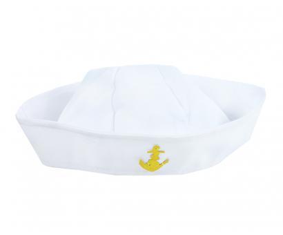 Čiapka námornícka biela,detská